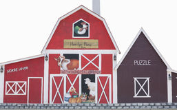 Barn with painted royalty free stock image