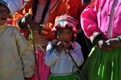 barn peru Royaltyfri Fotografi