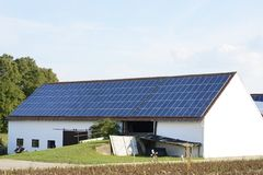 Barn with Photovoltaic Royalty Free Stock Photo
