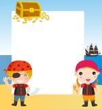Barn piratkopierar Royaltyfri Foto