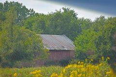 Barn in Prairie Stock Photos