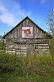 Barn quilt on an old building Royalty Free Stock Photos