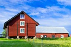 Farm. A big red barn on a farm Royalty Free Stock Photo