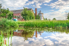 Barn Reflected In A Pond  Royalty Free Stock Photo