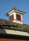 Barn roof. Old shingles, blue sky Stock Photo