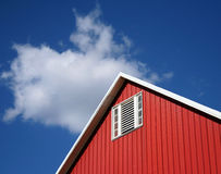 Barn Roof. Red Barn against Blue Sky Royalty Free Stock Photos