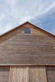 Barn roof with blue sky background Royalty Free Stock Image