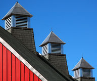 Barn roofline Stock Image