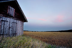 Barn in rural landscape Royalty Free Stock Photos
