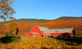 Barn in rural Vermont. Under twilight Royalty Free Stock Image