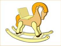 Barn` s som vaggar hästen vektor illustrationer