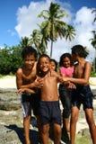 barn samoa Royaltyfri Fotografi