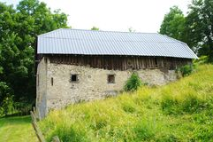 Barn. In savoie in french alps Royalty Free Stock Photo