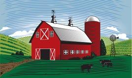 Barn Scene stock illustration