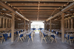 Barn set up for wedding reception Stock Photography