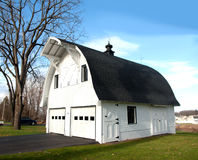 Barn shaped garage Royalty Free Stock Photography