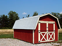 Barn Shed. Shed made to look like a small red barn on a farm Stock Images