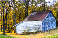 Barn on the side of the road Royalty Free Stock Image