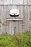 Barn siding basketball Royalty Free Stock Image