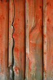Barn Siding. Detail of weathered red barn siding Royalty Free Stock Images