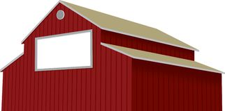 Barn Sign. Illustration of an old barn with a blank sign on the side Royalty Free Stock Images