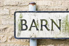 Barn sign Royalty Free Stock Photo