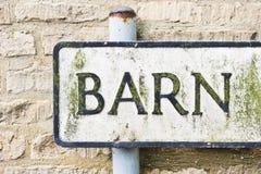 Barn sign Royalty Free Stock Photo