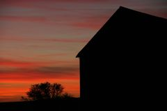 Barn silhouette Royalty Free Stock Images