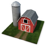 Barn and Silo Stock Photo