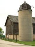 Barn & Silo. Refurbished barn and silo keep the look of the original Stock Photography