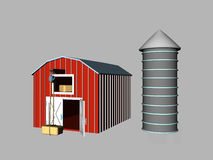Barn & Silo Stock Image