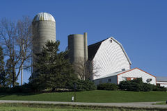 Barn and Silo. In the Midwest Stock Images