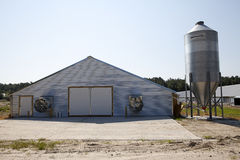 A barn and silo Stock Photography