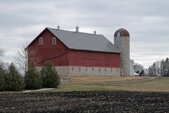 A Barn and Silo Stock Images