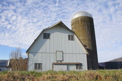 Traditional Barn and Silo Royalty Free Stock Images
