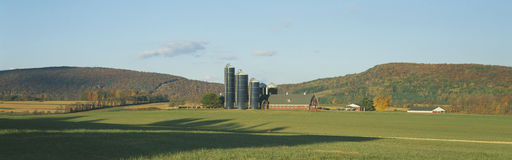 Barn and Silos Stock Photos