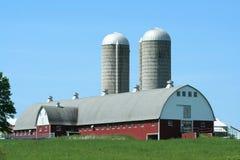 Barn and silos Royalty Free Stock Photos