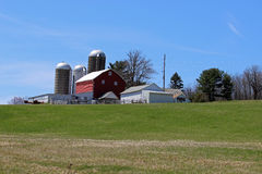 Barn and silos Royalty Free Stock Images