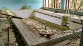 Barn slår samman i Pripyat Royaltyfria Foton