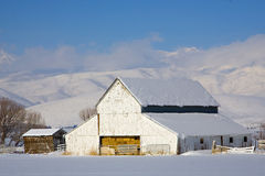 Barn in Snow Royalty Free Stock Image