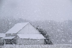 Barn in Snow royalty free stock photos
