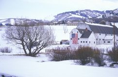 Barn in the snow Royalty Free Stock Image