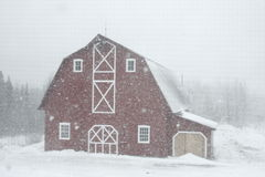 Barn in snow. Barn in the snow in Quebec, Canada Royalty Free Stock Images