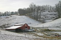 Barn in Snow Royalty Free Stock Photo