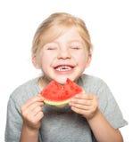 Barn som äter watermelon-2 Royaltyfri Bild