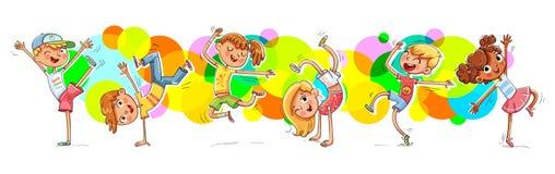 Barn som dansar breakdanceon bakgrundsfärgsprejen vektor illustrationer