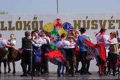 barn som dansar hollokoen hungary Arkivfoton