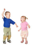 barn som dansar två Arkivbilder