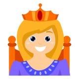 Barn som en drottning royaltyfri illustrationer
