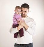 Avla med barnet Royaltyfria Bilder